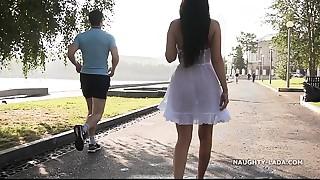 Transparent suit in public