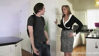 StepMom Julia Ann Bonks Stepson in Ass!