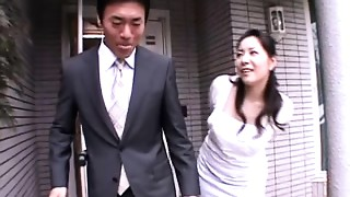 Ayane Asakura - Married Woman Serf Front of the Spouse