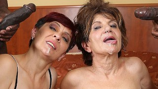Grannies Hardcore Screwed Interracial Porn with Aged Chicks loving Ebony Dongs