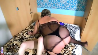 Youthful hottie Leisa enjoys having immodest sex with mature nanny