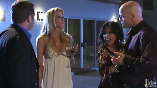 Hawt and awesome Jessica Drake & Kaylani Lei swaps their boyfriends