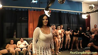 breasty ashley cum in real group-sex