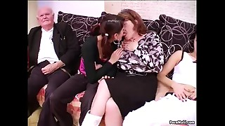 Group-sex with grannies